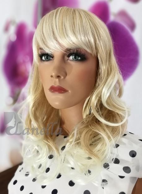 Blond paruka melír Lanella S-16