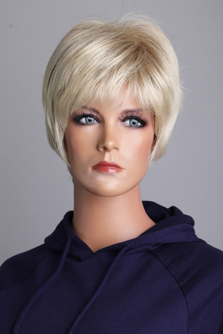 Dámská krátká blond paruka Lanella KN40