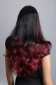 Luxusní černo červená paruka Lanella DN25
